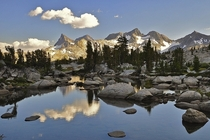 Ansel Addams Wilderness viewing the Ritter Range in Yosemites back country  by Steve Dunleavy
