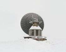 Antenna built for interplanetary connection The Soviet Union was planning to build bases on other planets and prepared facilities for connection which were never used and are deserted now Russia Arkhangelsk region