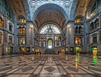 Antwerp Central Station Belgium  By Rob de Voogd  x-post rBelgiumPics