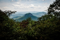 Any love for the east coast The Looking Glass Rock from the Blue Ridge Parkway in NC x