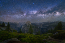 Anyone else get into the park this last week From Glacier Point Friday in Yosemite National Park in California  JeremyVeselyPhotography