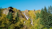 Anyone fancy a ride on the natural water slide Iceland