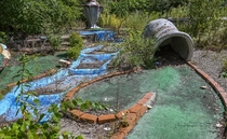 Anyone up for some mini golf Abandoned course behind Rosies Diner Michigan