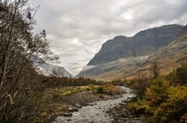 Aonach Dubh from River Coe - Glencoe Scottish Highlands OC