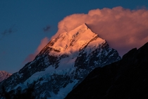 AorakiMount Cook at Sunset Southern Alps New Zealand