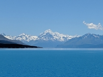 AorakiMt Cook New Zealand viewed from the shores of Lake Pukaki