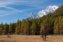 Aosta ValleyItaly in autumn  x