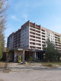 Apartment building in the centre of Pripyat Ukraine