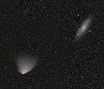 APOD  April  - Comet PANSTARRS and the Andromeda Galaxy