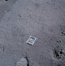 Apollo  astronaut Charles Dukes family photo left behind on the moon
