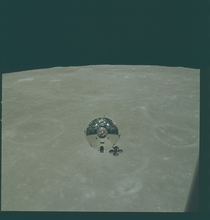 Apollo  Command Module Rendezvous Lunar Orbit May nd   x-post rHI_Res