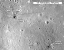 Apollo  landing site as seen by a Japanese probe