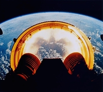Apollo s Saturn V interstage falling away during ascent