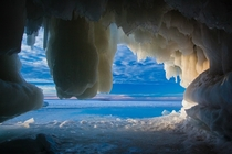 Apostle Islands Ice Cave by Jerry Mercier x