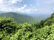 Appalachian mountains viewing height approximately  ft North Carolina USA x