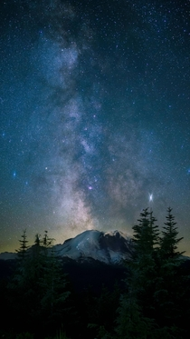 Apparently people like pictures of the milky way over Mt Rainier