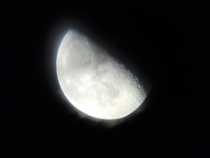 Apparently you can take pictures with a cheap phone through an even cheaper telescope Taken several years ago with a craptastic LG  inch phone through a celeston something or anothergot it from Walmart for  xmas of