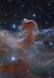 Applying tilt shift to images makes light years long phenomena seem like they could fit into your hand This is the Horsehead nebula album in comments