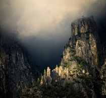 Approaching storm in Yosemite National Park California