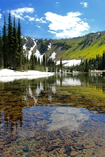 Appropriately named Picnic Lakes in Montanas Jewel Basin