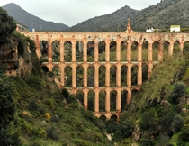 Aqueduct del Aguila in Nerja Spain