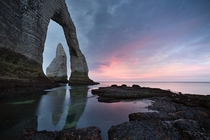 Arch and Needle at tretat Normandy  Photo by Alexey Kharitonov
