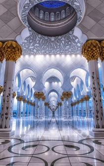 Arch of the Righteous at Sheikh Zayed Mosque Abu Dhabi United Arab Emirates