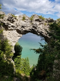Arch Rock on Mackinaw Island Michigan unedited and unfiltered