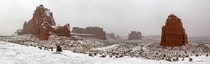 Arches had a blizzard last night and looked amazing - Arches National Park Moab Utah