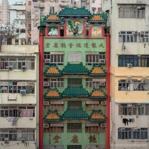 Architecture contrast in Kowloon