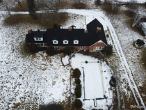 Arial View of an Abandoned Custom Country Mansion in Ontario Canada