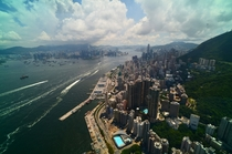 Arial view of Hong Kong Kowloon from Kennedy Town OC