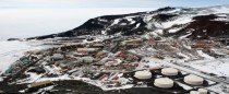 Ariel photo of McMurdo Station - A US Antarctic research centre located on the southern tip of Ross Island Antarctica
