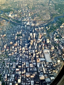 Ariel picture of Philadelphia I took while leaving for Houston