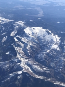 Ariel view of mountains in Los Alamos New Mexico OC  x -pixels