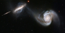 Arp  - a stunning pair of interacting galaxies NGC  and NGC A