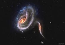 Arp  battle of galaxies from the Hubble telescope