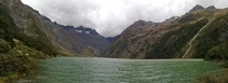 Arriving to Lake Marian Fiordland National Park New Zealand