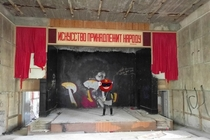 Art belongs to the people - theatre in an abandoned Soviet army base Saxony Germany