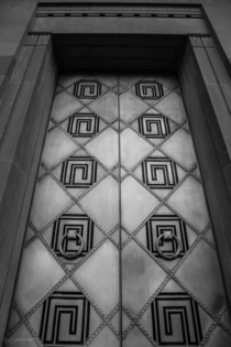 Art Deco doors John F Kennedy Department of Justice building Washington DC