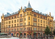 Art Nouveau building in Tampere Finland