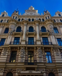 Art Nouveau building in the Latvian city of Riga