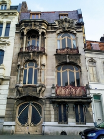 Art Nouveau facade in Roubaix France