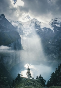 Art of sunbeams in Switzerland