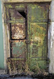 Artillery magazine door Fort Worden Washington USA