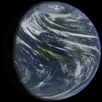 Artists Impression of Terraformed Venus