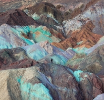 Artists Palette in Death Valley California just after sunset OC