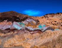 Artists Palette in Death Valley National Park CA