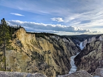 Artists Point at Sunset Grand Canyon of the Yellowstone Wyoming  OC