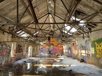 Artwork in abandoned mill